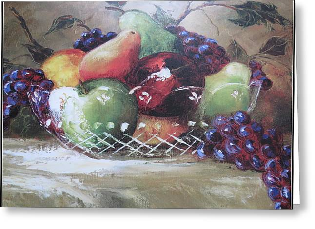 Fruit Still-life  Greeting Card by Kay Novy