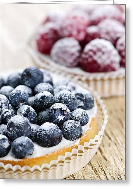 Fruit Tarts Greeting Card by Elena Elisseeva