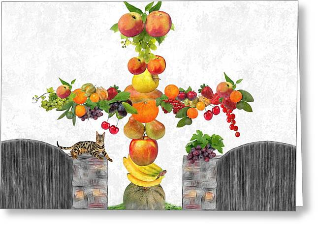Fruit Tee Greeting Card by Manfred Lutzius