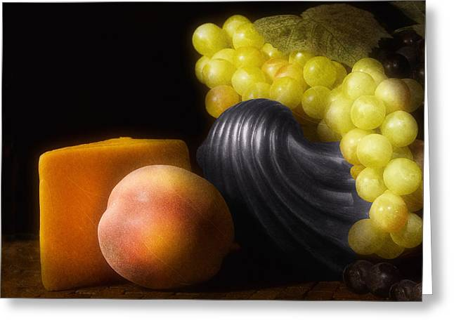 Fruit With Cheese Greeting Card by Tom Mc Nemar