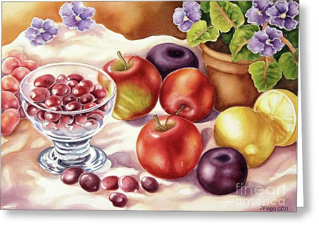 Fruits And Berries Greeting Card