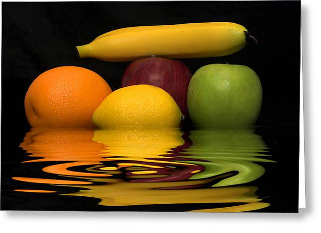 Fruity Reflections Greeting Card by Cindy Haggerty