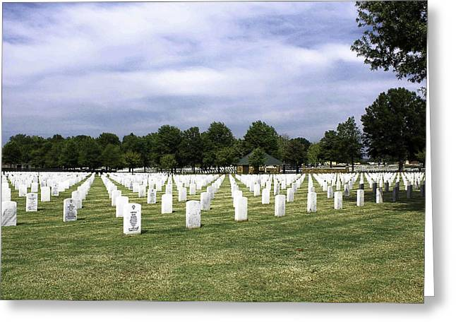Ft Smith National Cemetery Greeting Card by Leroy McLaughlin