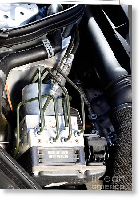 Fuel Injection System Greeting Card by Photo Researchers
