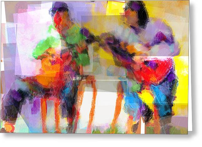 Session Musician Greeting Cards - Fugue in E Minor Greeting Card by J Christian Sajous