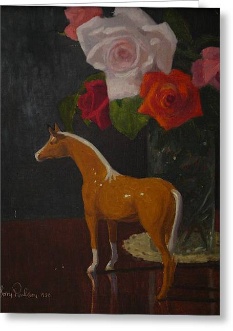 Fugureen With Roses Greeting Card