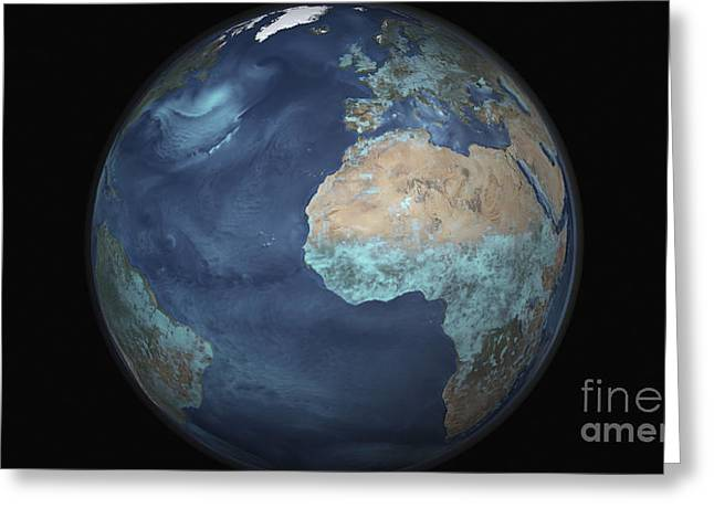 Full Earth Showing Evaporation Greeting Card by Stocktrek Images