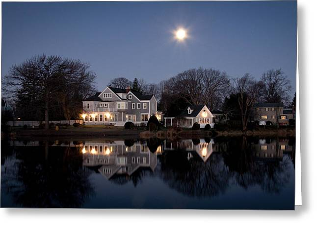 Full Moon Over Babylon Greeting Card by Vicki Jauron