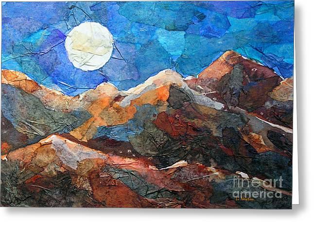 Full Moon Over The Sierras Greeting Card by Li Newton