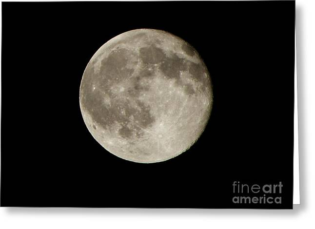 Full Moon  Greeting Card by Pixel  Chimp