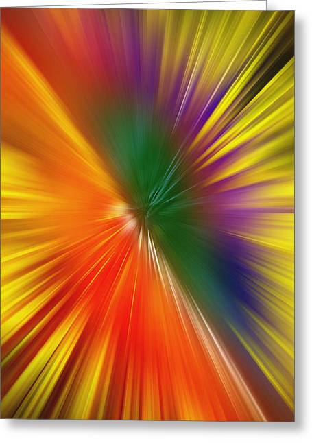 Full Of Energy Greeting Card by Saad Hasnain