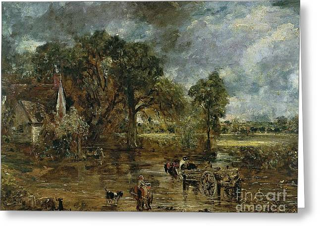 Full Scale Study For 'the Hay Wain' Greeting Card by John Constable