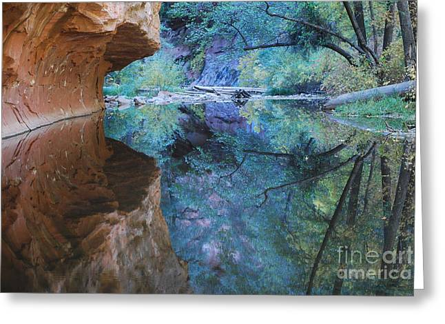 Fully Reflected Greeting Card by Heather Kirk