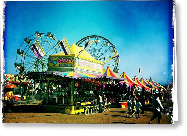 Fun At The Fair Greeting Card by Nina Prommer