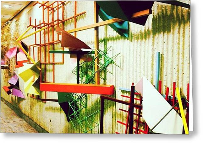 #fun #social #art #sculpture #modernart Greeting Card