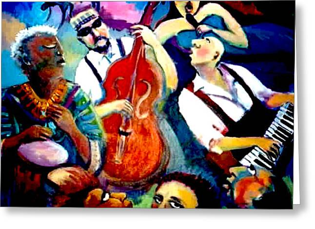 Funky Blues Greeting Card