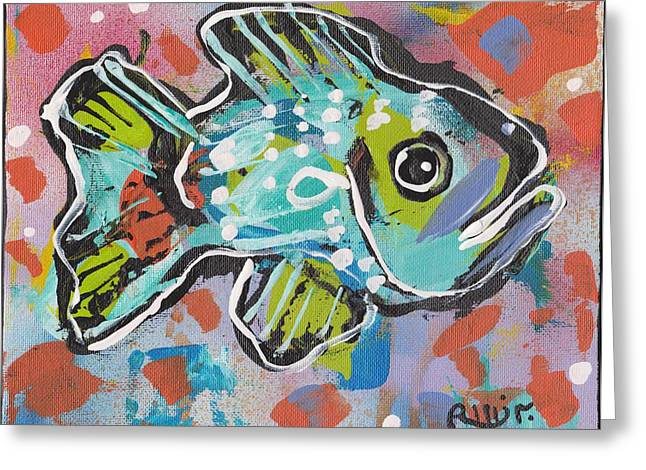 Funky Folk Fish 2012 Greeting Card
