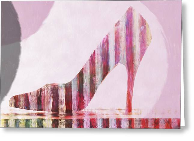 Funky Shoe Greeting Card by David Ridley
