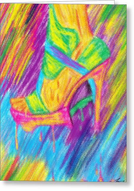 Funky Stilettos Impression Greeting Card by Kenal Louis