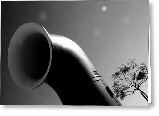 Funnel Me Greeting Card by Jez C Self