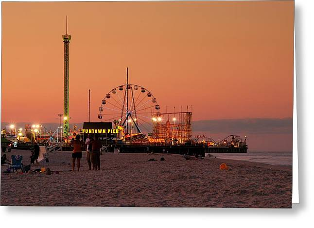 Funtown Pier At Sunset I - Jersey Shore Greeting Card
