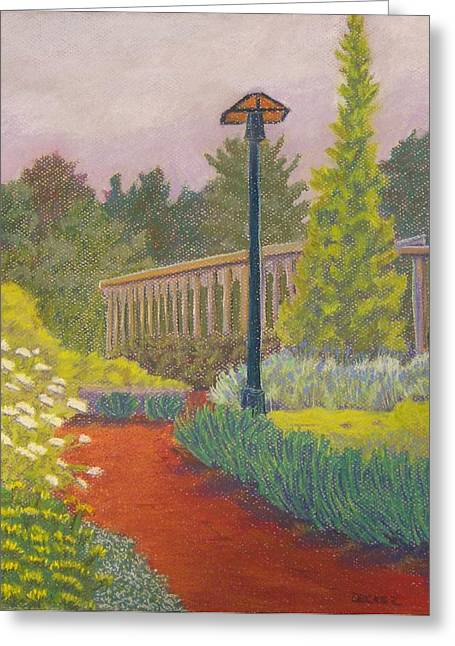 Greeting Card featuring the painting Furman University Cliffs Cottage by Robert Decker