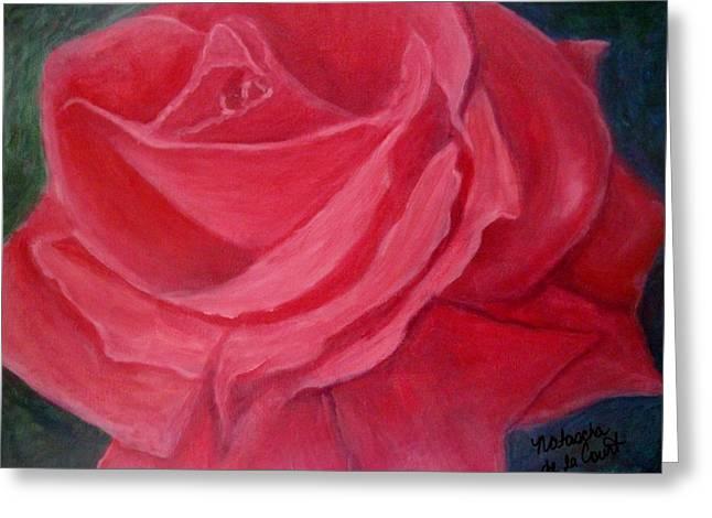 Fuschia Rose Greeting Card