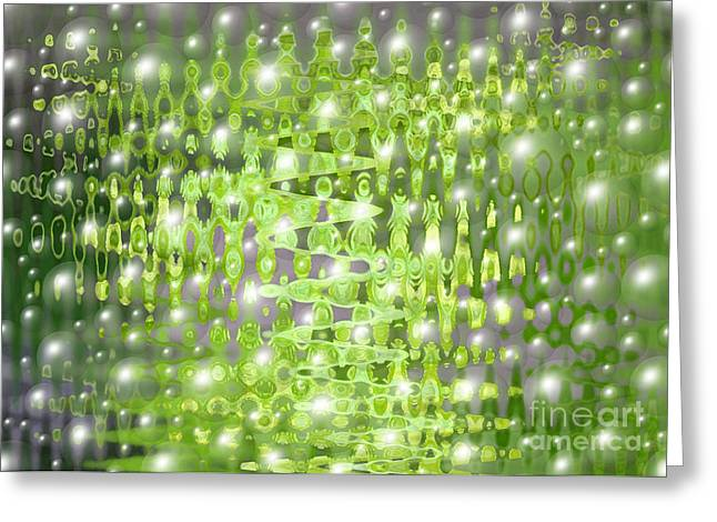 Future Forest Abstract Greeting Card by Carol Groenen