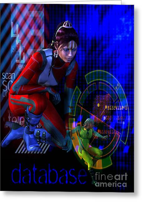 Greeting Card featuring the digital art Future Tribal by Shadowlea Is