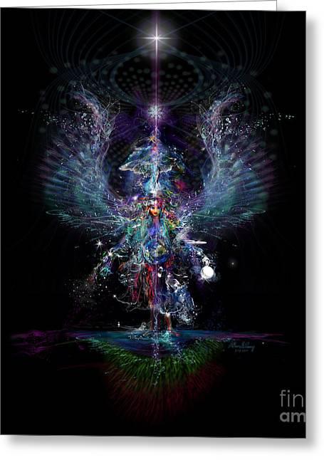Gaia Birthing New Earth Greeting Card