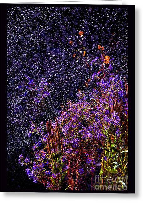 Galactic Gardens Greeting Card by Susanne Still