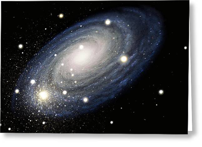 Galaxy Greeting Card by Atlas Photo Bank and Photo Researchers