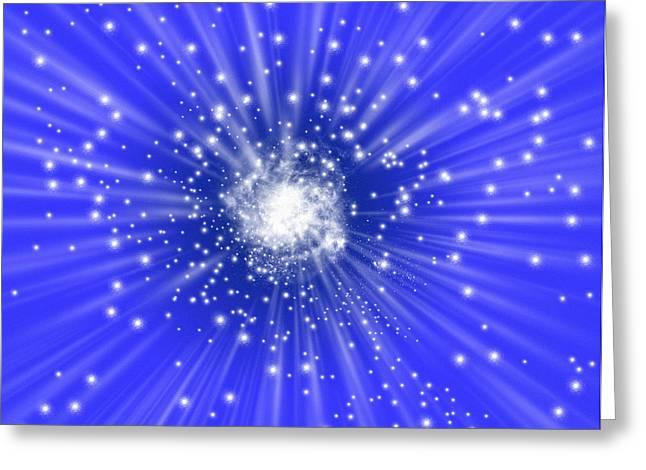 Galaxy Formation, Computer Artwork Greeting Card