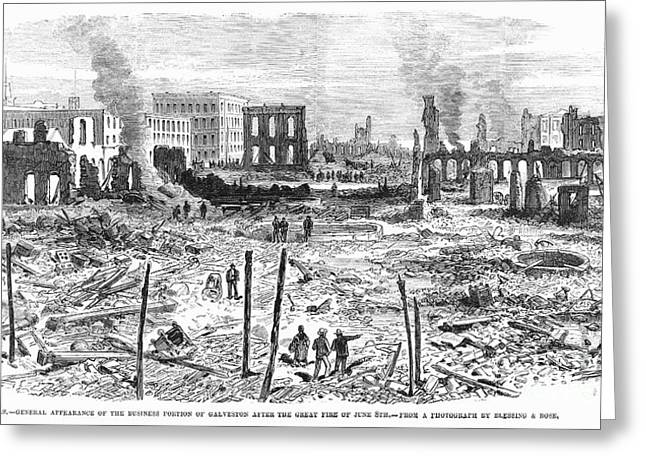 Galveston: Fire, 1877 Greeting Card by Granger