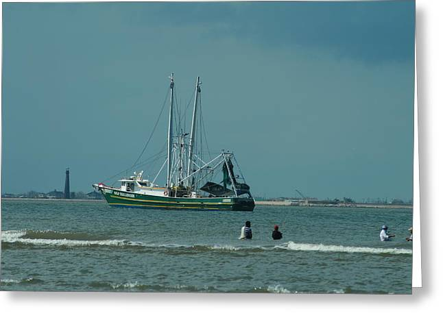 Galveston Fishing Greeting Card