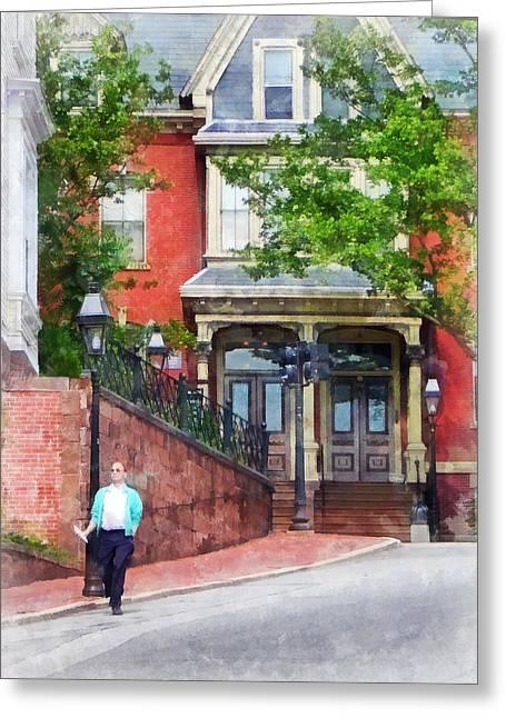 Gamaliel Dwight House Providence Ri Greeting Card by Susan Savad
