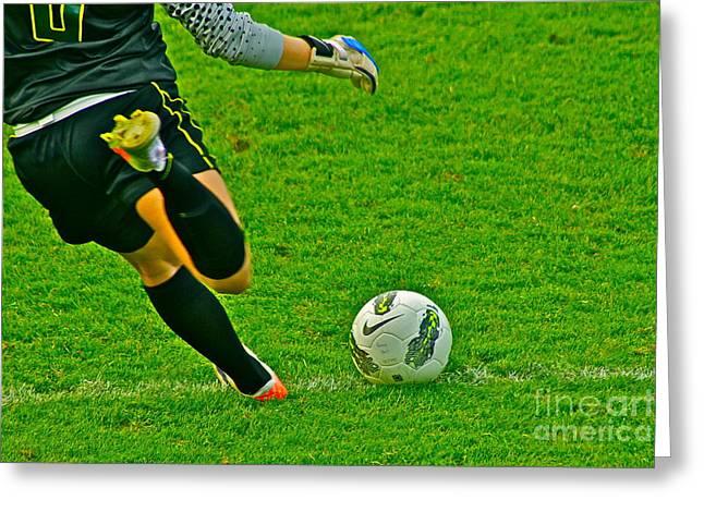 Game Ball Greeting Card by Laddie Halupa