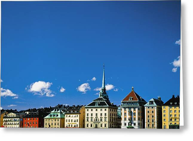 Gamia Stan Main Square Greeting Card by Axiom Photographic