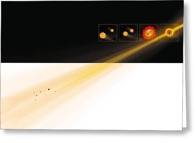 Gamma Ray Burst Formation Greeting Card by Claus Lunau