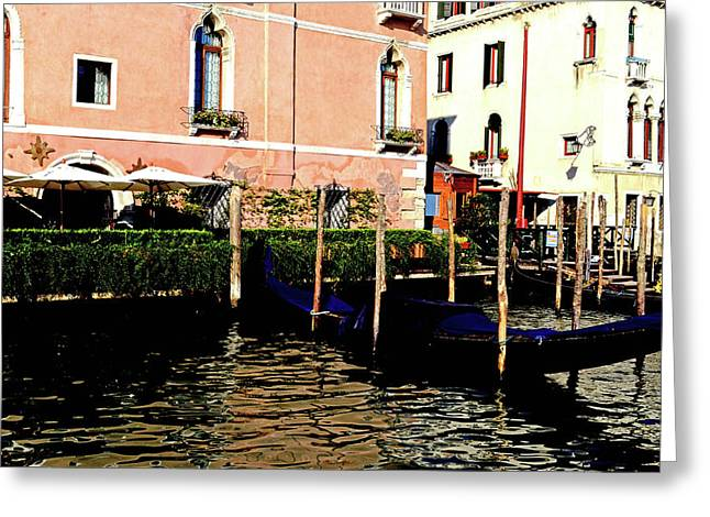 Gandola Docking Greeting Card