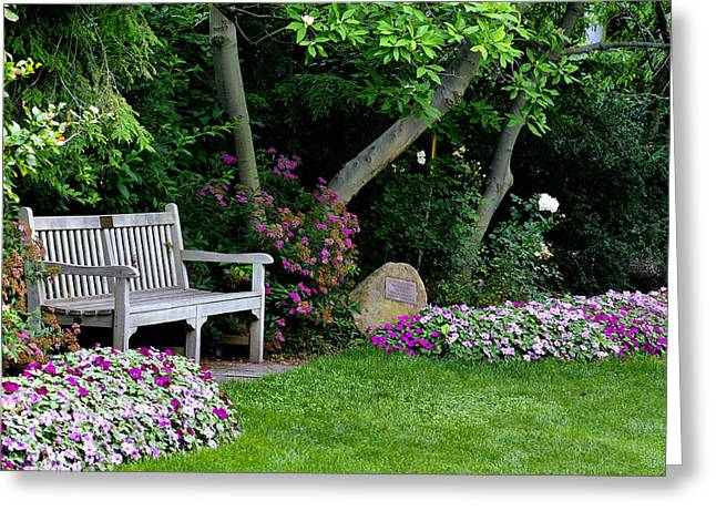 Garden Bench Greeting Card by Michelle Joseph-Long