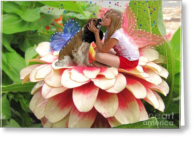 Garden Fairy Friends  II Greeting Card by Debbie Portwood