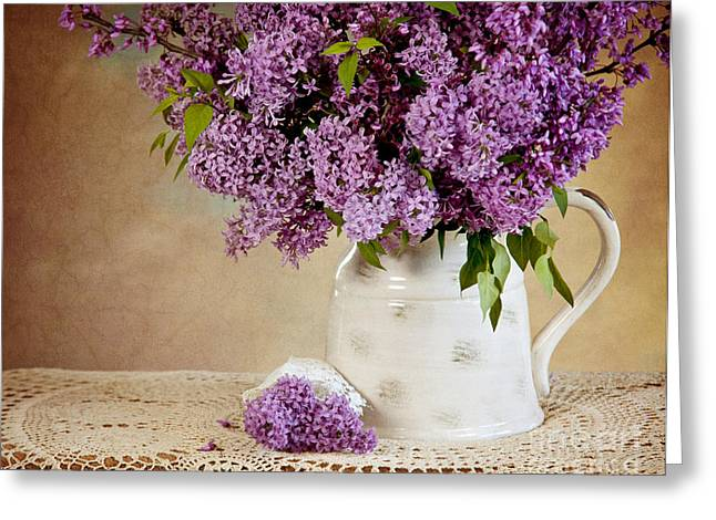 Greeting Card featuring the photograph Garden Lilac by Cheryl Davis