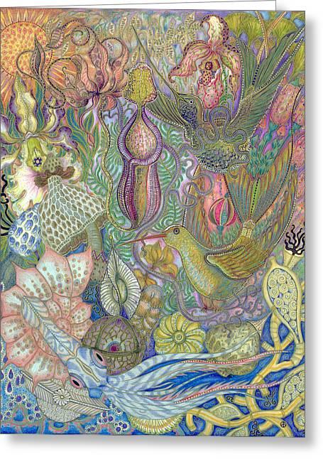 Garden Of Eden - Birds Greeting Card