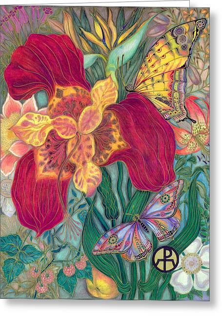 Garden Of Eden - Flower Greeting Card