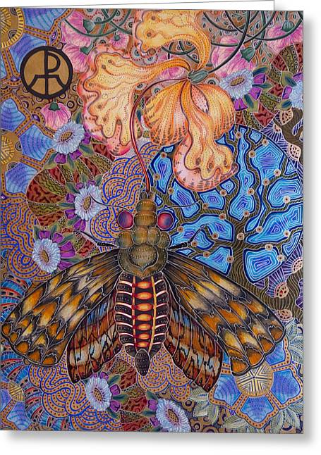 Garden Of Eden - Moth Greeting Card