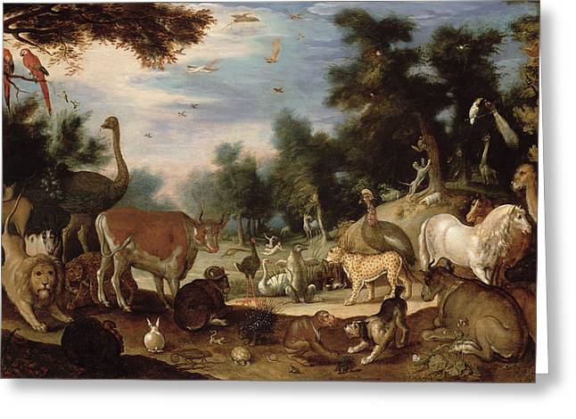 Garden Of Eden Greeting Card by Jacob Bouttats