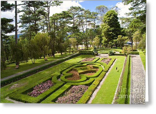 Garden Of Emperor Bao Dais Summer Palace Greeting Card by David Buffington