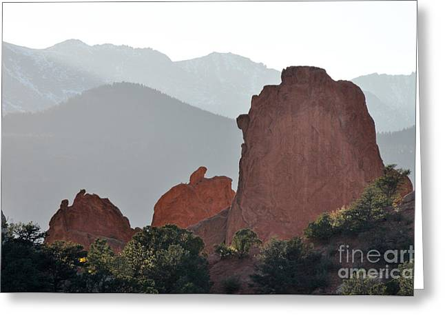 Greeting Card featuring the photograph Garden Of The Gods by Cheryl McClure