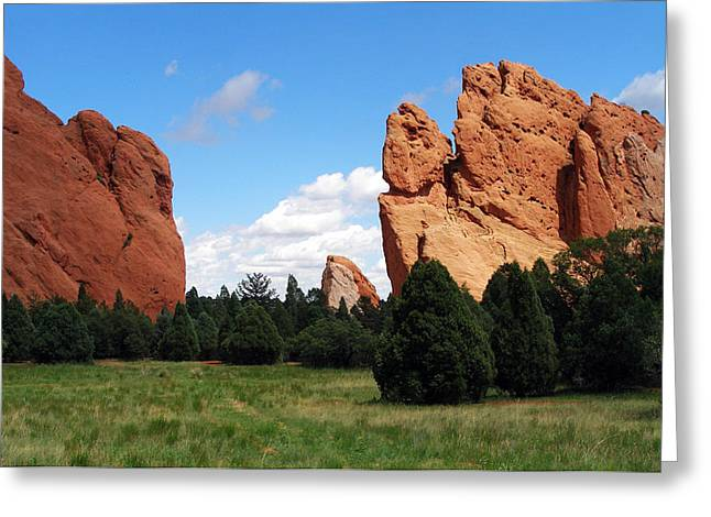 Greeting Card featuring the photograph Garden Of The Gods by David Pantuso